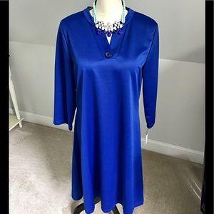 🆕💙Rich Cobalt Blue Dress Size Large